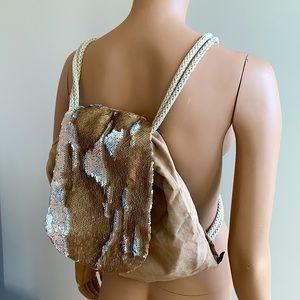 Handmade Sequin Satchel / Backpack
